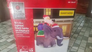 Brandnew Christmas Inflatables Light Giant Santa on Elephants 10ft 6in for Sale in Oak Lawn, IL