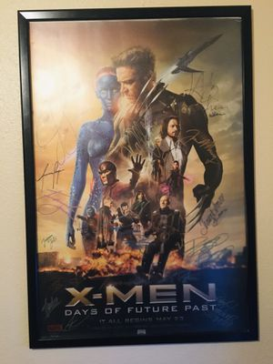 x men days of future past signed cast poster for Sale in Dallas, TX