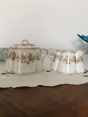 Antique sugar & creamer set. Repaired lid for Sale in West Columbia, SC