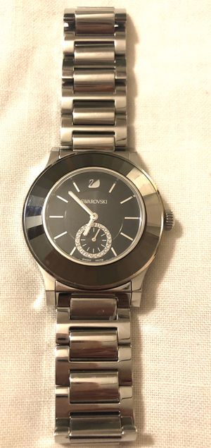 Black Swarovski women's Stainless Steel watch for Sale in Chino, CA