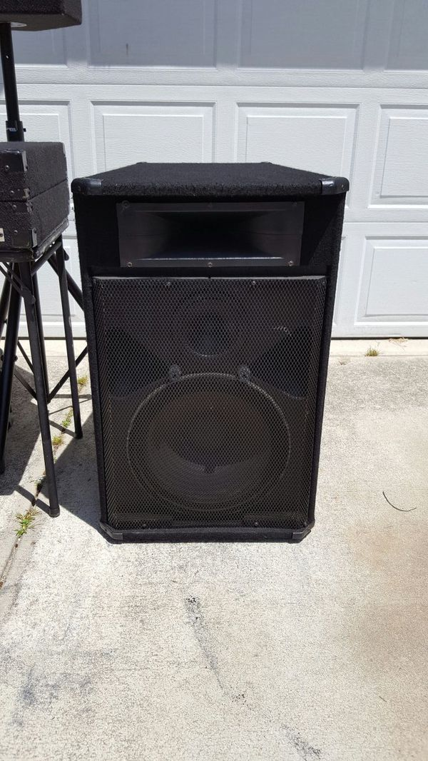 used dj speakers for sale peavey sp3g for sale in raleigh nc offerup. Black Bedroom Furniture Sets. Home Design Ideas