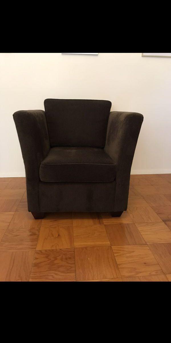 Comfortable Sitting Room Chair- Dark Brown