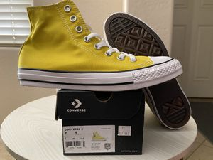 Converse Chuck Taylor All Star High Size 7 Mens/ 9 Womens US Color: Bold Citron $45 for Sale in Peoria, AZ