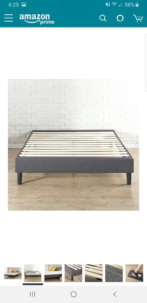 Full size upholstered platform bed frame..BRAND NEW.. CAN DELIVER for Sale in Euclid, OH