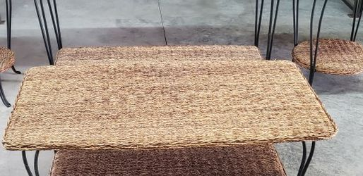 4 Pc Woven Seagrass Table Set for Sale in St. Louis,  MO