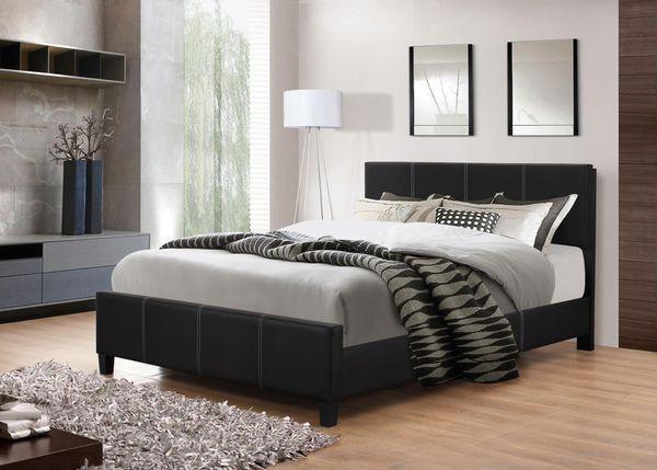Brand New King Size Grey Linen Upholstered Platform Bed Frame(5 Color Options)
