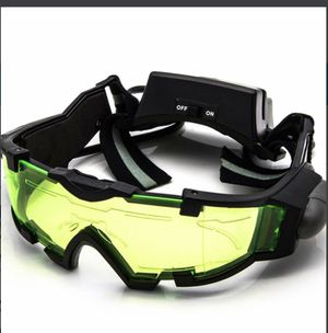 Adjustable LED Night Vision Glass Goggles Motorcycle Motorbike Racing Hunting Glasses Eyewear With Flip-out Light for Sale in Fairburn, GA