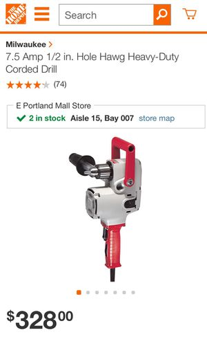 """Milwaukee 7.5amp 1/2 in. """"Hole Hawg"""" drill for Sale in Portland, OR"""