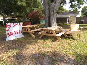 Picnic tables, porch swings, chairs for Sale in St. Petersburg, FL
