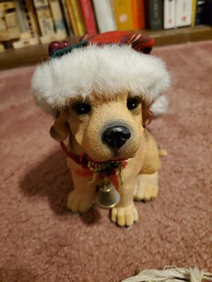 """Brand New Cutest Christmas Dog Figurine 7""""tall for Sale in Las Vegas, NV"""