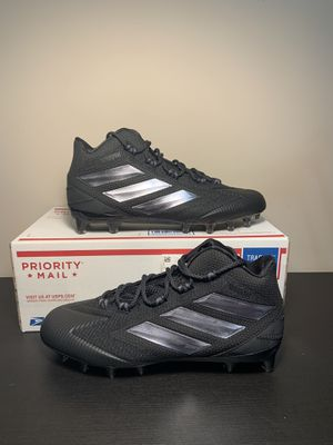 Mens Adidas Freak Carbon Mid Football Cleats F97423 Black & Silver Size 11 for Sale in South Elgin, IL