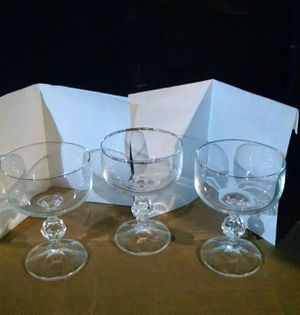 3 pc crystal cocktail glass set for Sale in Avon Park, FL