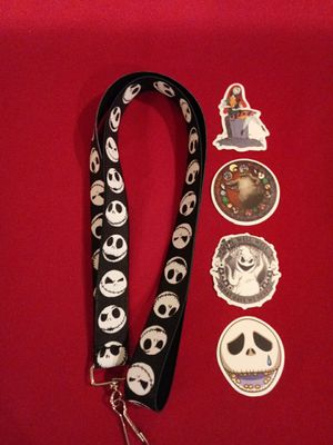 Nightmare Before Christmas Lanyard With 4 Stickers for Sale in Pico Rivera, CA