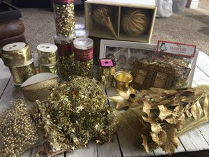 Gold Holiday Decorations for Sale in Boca Raton, FL