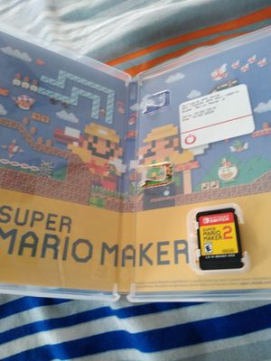 Unplayed super Mario maker 2 Nintendo switch got 2 and opened both for Sale in Selma, CA