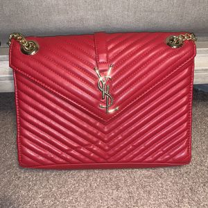 Red and Gold bag with Wallet for Sale in College Park, MD