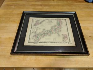 1861 Hand Colored Map of Japan for Sale in Seattle, WA