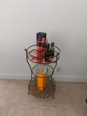 Wrought Iron Wine Caddy for Sale in SUNNY ISL BCH, FL