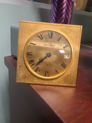 Jaeger lecoultre swiss desk clock 1960 for Sale in Tampa, FL