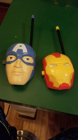 Captain America and iron man walkie talkies for Sale in Potomac, MD