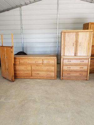 Oak finished furniture for Sale in Venus, TX