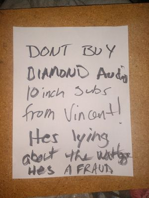 Fraudulent Seller DO NOT BUY FROM VINCENT SALCIDO HES A FRAUD for Sale in Elk Grove, CA