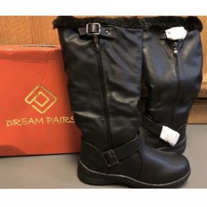 DREAM PAIRS Black Faux Fur Lined Knee High Boots for Sale in Calabasas, CA