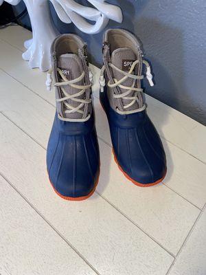 Sherry blue orange rain boots for Sale in Laveen Village, AZ