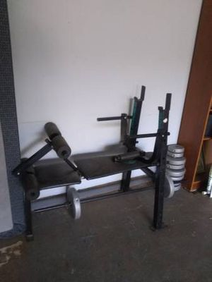 Weight Lifting Bench (With Weights) for Sale in Ellenwood, GA