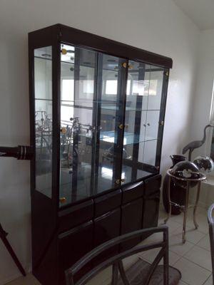 Black hutch display case for Sale in San Luis Obispo, CA