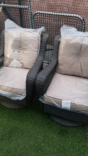 Wicker swivel and rocking patio chairs for Sale in Santa Fe Springs, CA