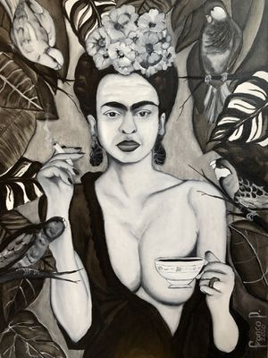 Frida Kahlo portrait oil/canvas for Sale in Raleigh, NC