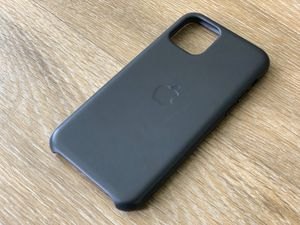 Nearly New Apple iPhone 11 Pro Black Leather Case for Sale in Westminster, CO