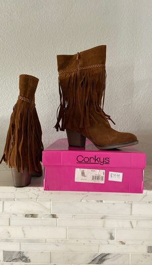 Brand new Fringeboots size 9 for Sale in Visalia, CA
