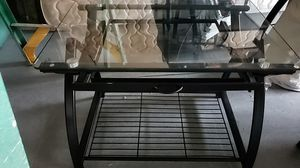 Metal and temper glass printer stand with hanging file storage for Sale in Snohomish, WA