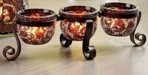 Partylite amaretto swirl centerpiece candle holder. 15 Firm for Sale in Glendale, AZ