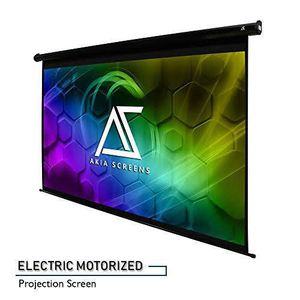 Akia Screens 110 Motorized Electric Projector Projection Screen 16:9 8k 4k Ultra Hd 3d Ready Wall/ceiling Mounted 12v Trigger Remote 8k 4k Ultra Hd for Sale in Guadalupe, AZ