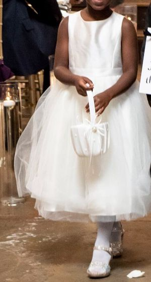 David's Bridal Flower Girl Dress size 6 Shoes size 10 & Girl size 4 for Sale in Decatur, GA