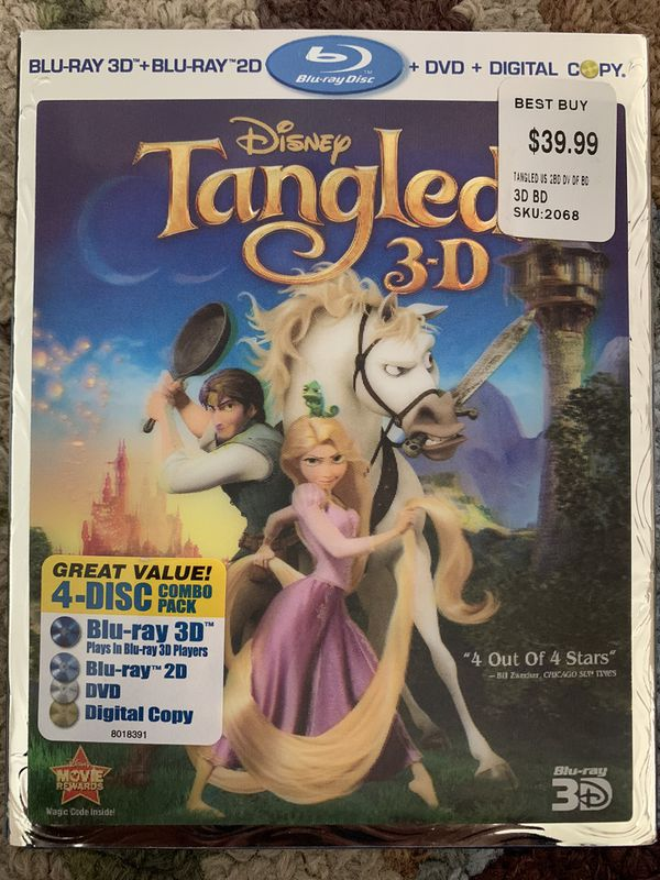 Tangled 3-D Blu Ray Bundle