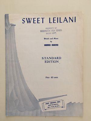 Vintage Joy Music Sheet Music 1937 Sweet Leilani by Harry Owens for Sale in Phoenix, AZ