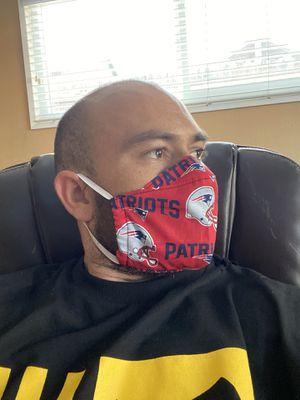 Patriots face shield patriots Neon signs patriots jersey for Sale in La Habra, CA