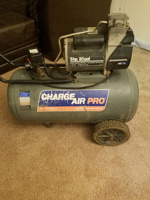 Charge Air Pro Devilbiss 5hp 20 Gallon Compressor For Sale