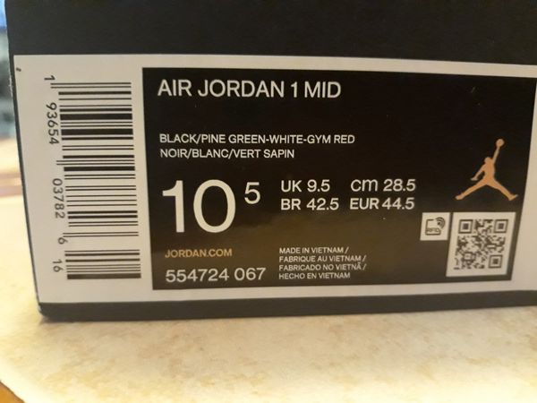 Air jordans 1 mid size 10