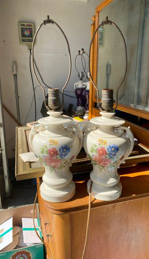 Set of antique lamps. 30 dollars for Sale in Rancho Cucamonga, CA