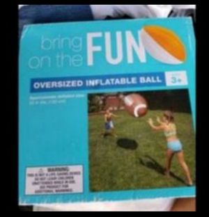 Fun Jumbo Infladable Football. Use it at the Pool, Beach, Park . for Sale in Miramar, FL