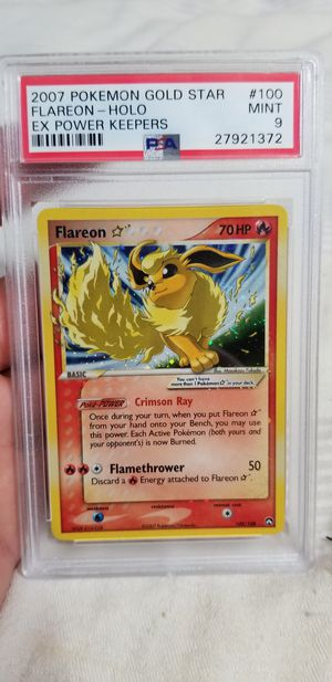 Pokemon Card Gold Star Flareon Power Keepers PSA 9 for Sale in Escondido, CA