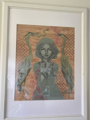 Limited Edition Audrey Kawasaki Signed Numbered Print She Will Spoke Art 2018 for Sale in Long Beach, CA