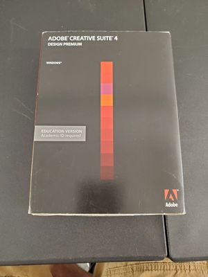 ADOBE CREATIVE SUITE 4 WINDOWS EDUCATION VERSION ACADEMIC ID REQUIRED A6 for Sale in Oceanside, CA