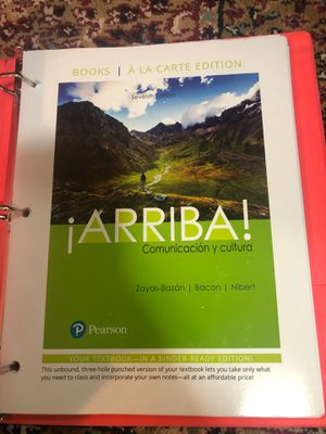 Arriba Communicacion y Cultura Textbook for Sale in Federal Way, WA