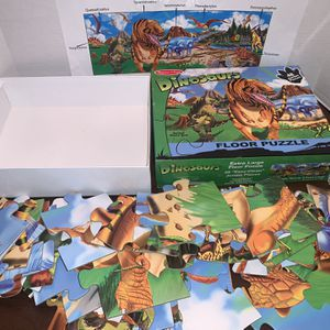 Melissa And Doug Extra Large Dinosaur Floor Puzzle 48 Jumbo Pieces Kids Boys Girls Toy for Sale in San Diego, CA